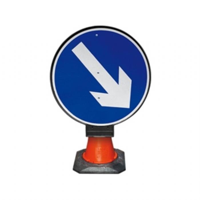 PortaCone Sign Black Road Keep Right