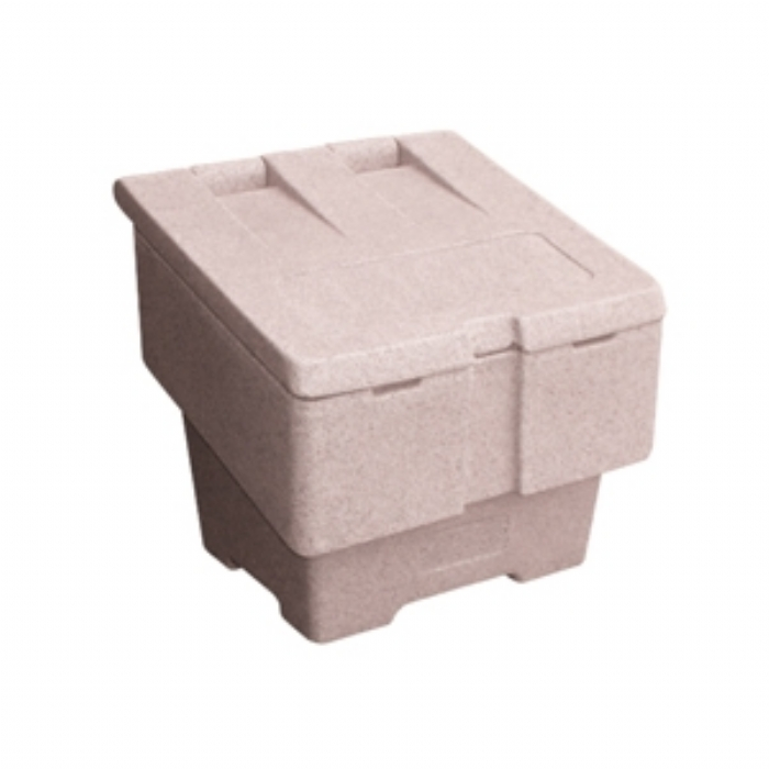Small 50kg Grit Salt Bin – Sandstone