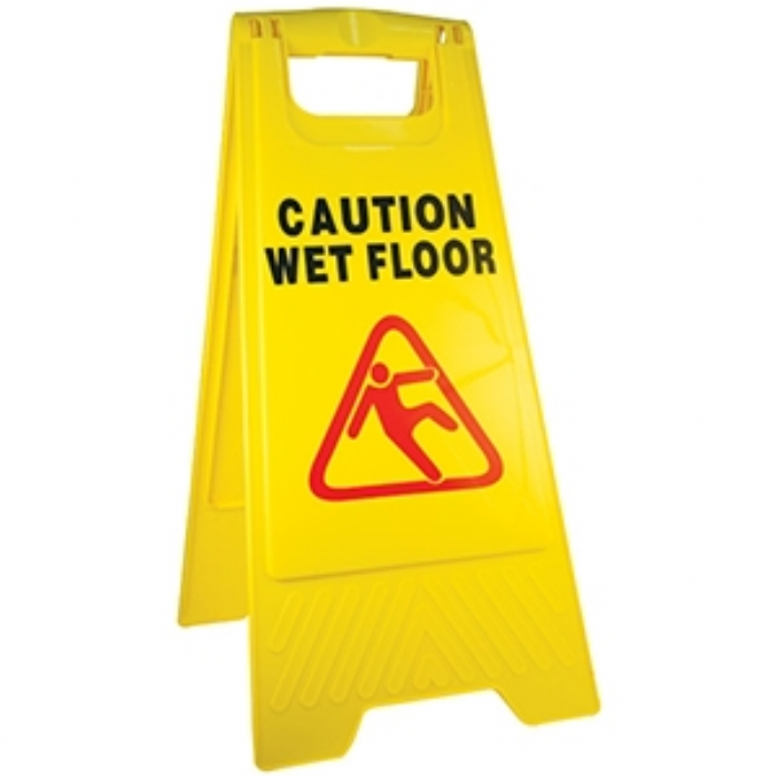 Caution Wet Floor Safety Sign - A-Frame – Yellow
