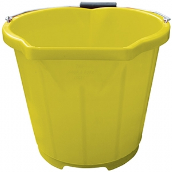 Scoop and Pour Bucket 13LTR/3G Yellow