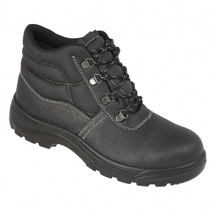 PROFORCE Dual Density Black Leather Upper Safety Boot