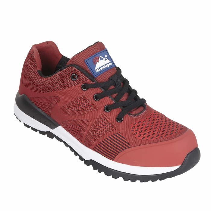 HIMALAYAN Red Bounce Mesh Safety Trainer