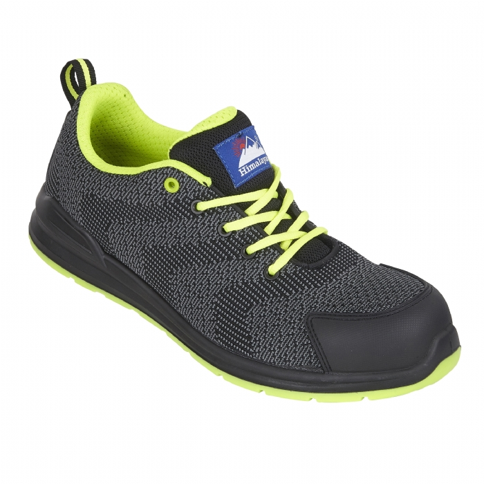 HIMALAYAN Black FlyKnit Mesh Safety Trainer