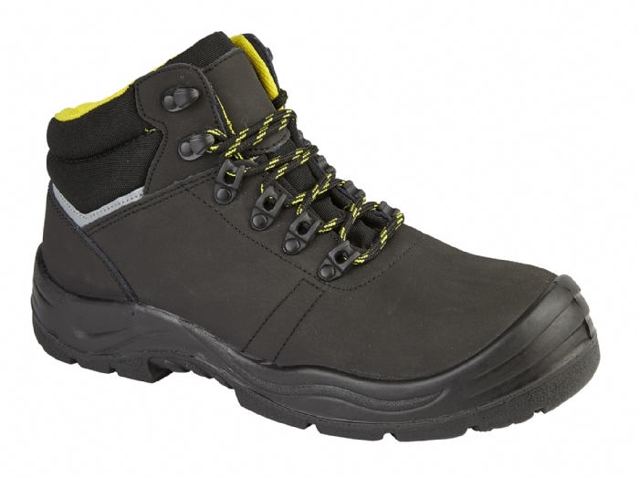 HIMALAYAN Black Leather Upper 6-Eyelet Safety Boot