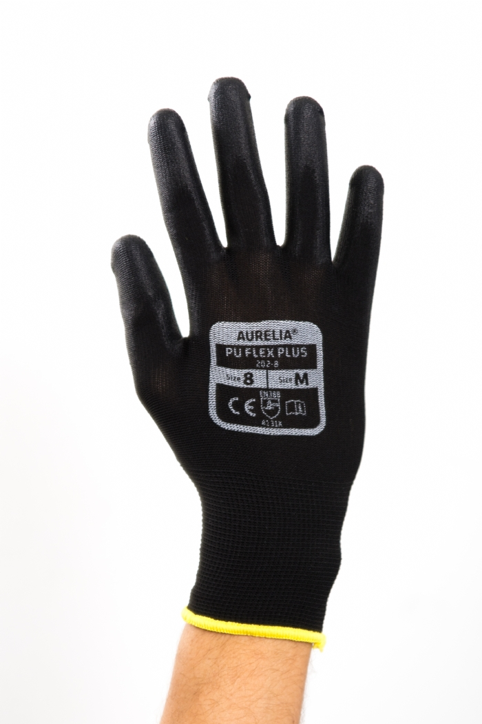 AURELIA PU FLEX PLUS PALM COATED HANDLING GLOVES