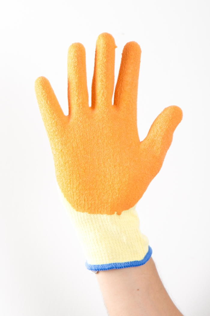 AURELIA LATEX WET GRIP ORANGE GLOVES