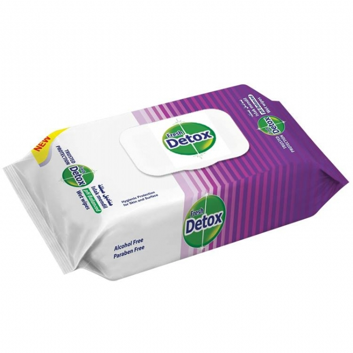 Fresh Detox Antibacterial Hand and Surface Wipes
