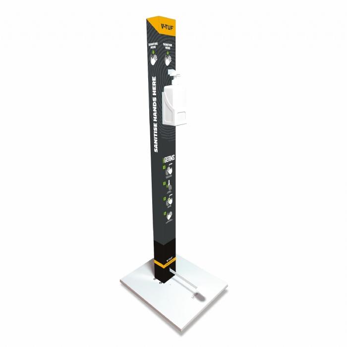 V-TUF Hands FREE Sanitiser Station - 1Litre Capacity