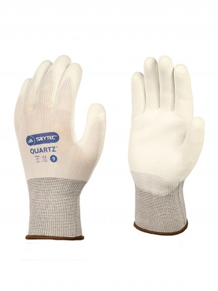 Skytec Quartz - PU White Gloves