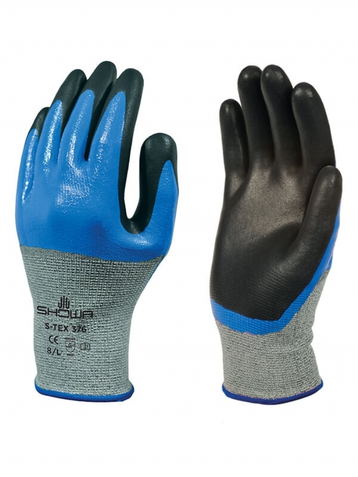 SHOWA S-TEX 376 Nitrile-Coated Gloves