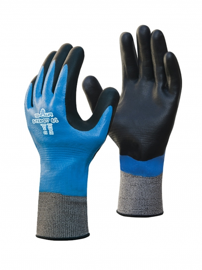 SHOWA S-TEX 377 Nitrile-Coated Cut-Resistant Gloves