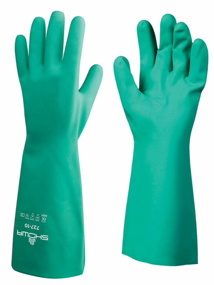 Showa 727 Nitri Solve Unlined Chemical Resistant Glove