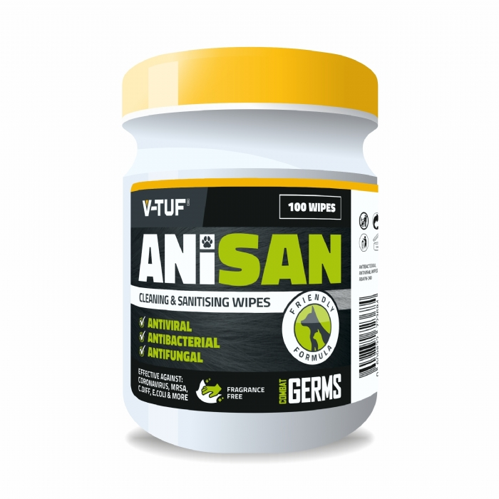 AniSan Animal Friendly Sanitising Cleaning Wipes, Fragrance Free