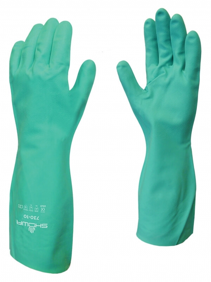 Showa Best 730 Nitrile Glove Chemical Resistant Gloves