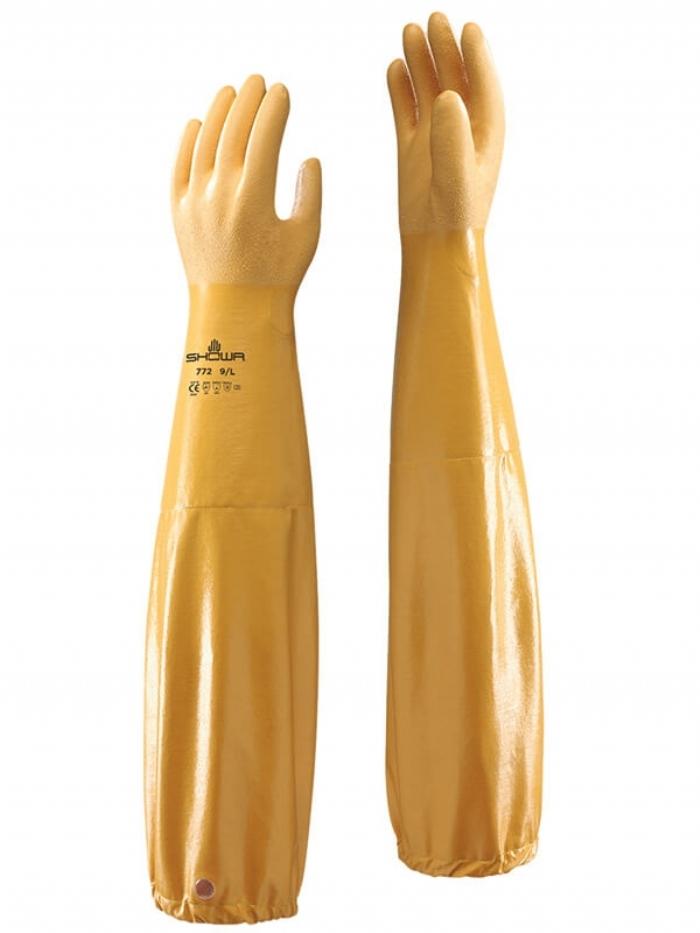 Showa 772 Arx Nitrile Coated Long Sleeve Gauntlet Glove
