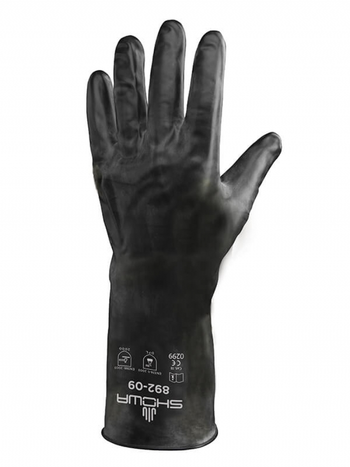 Showa Best 892 Fully Coated Chemical Viton Rubber Gloves
