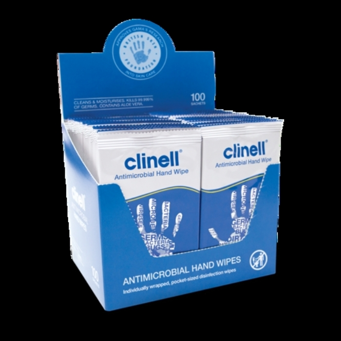 Clinell Antimicrobial Hand Wipes 100