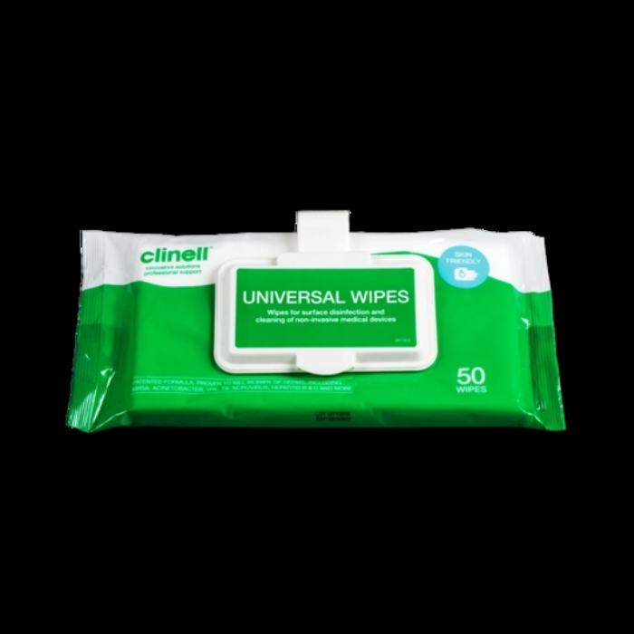 Clinell Universal Wipes Clip Pack 50