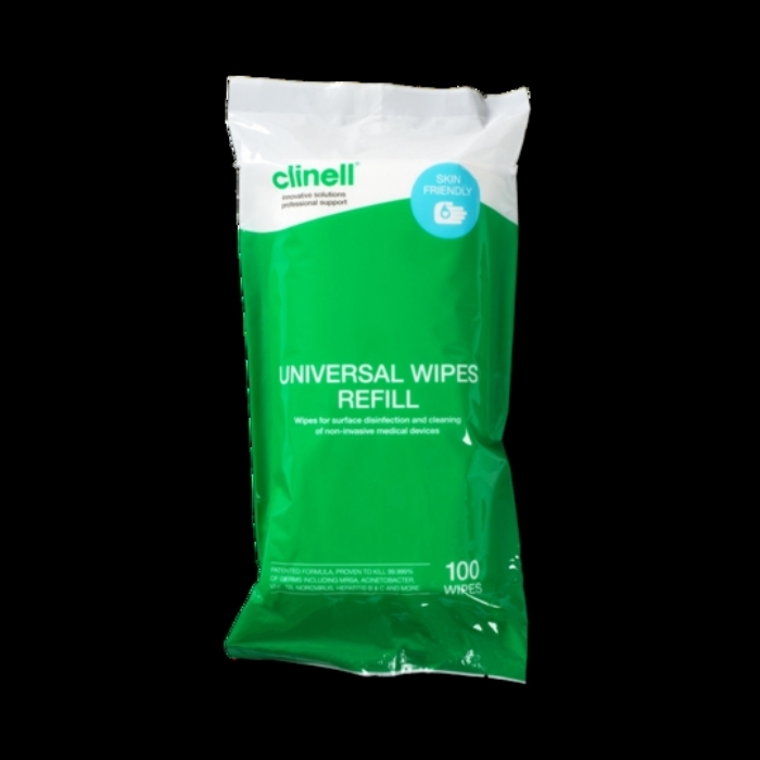 Clinell Universal Wipes Tub Refill 100