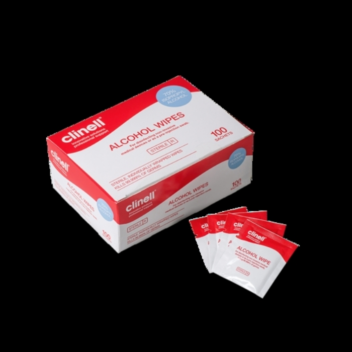Clinell Alcohol Wipes Sterile Sachets 100