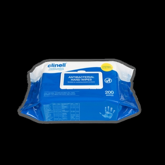 Clinell Antibacterial Hand Wipes 200