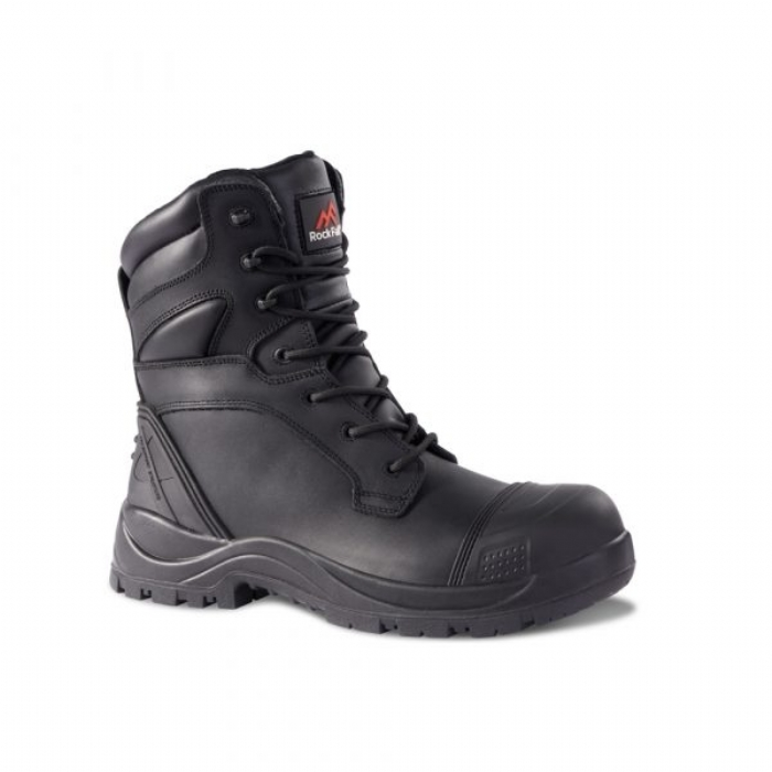 ROCK FALL Clay High Leg Waterproof Safety Boot - Wide Fitting