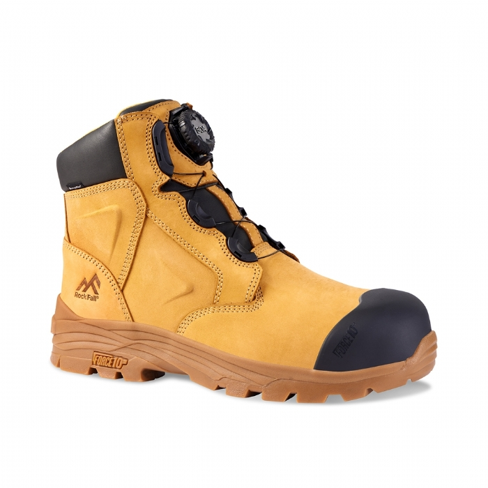 ROCK FALL RF610 Honeystone Waterproof Boa Safety Boot