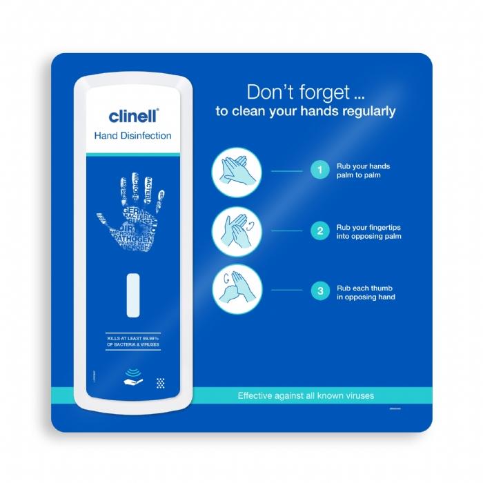 Clinell Wall Dispenser Kit (incl. backboard,drip tray, batteries & IFU)