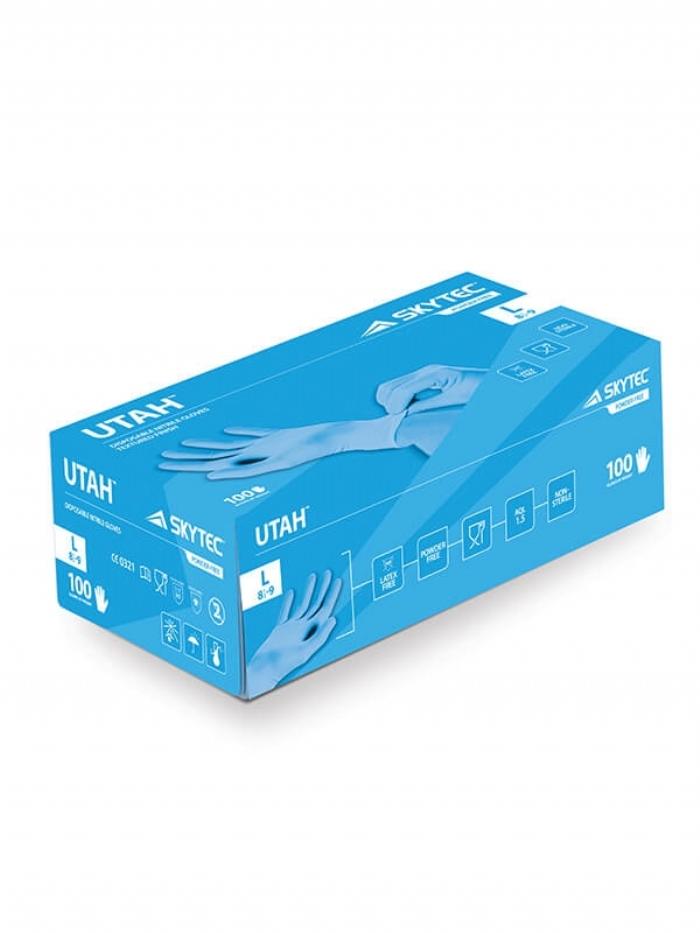 SKYTEC UTAH NITRILE POWDER-FREE TEXTURED FINISH DISPOSABLE GLOVES