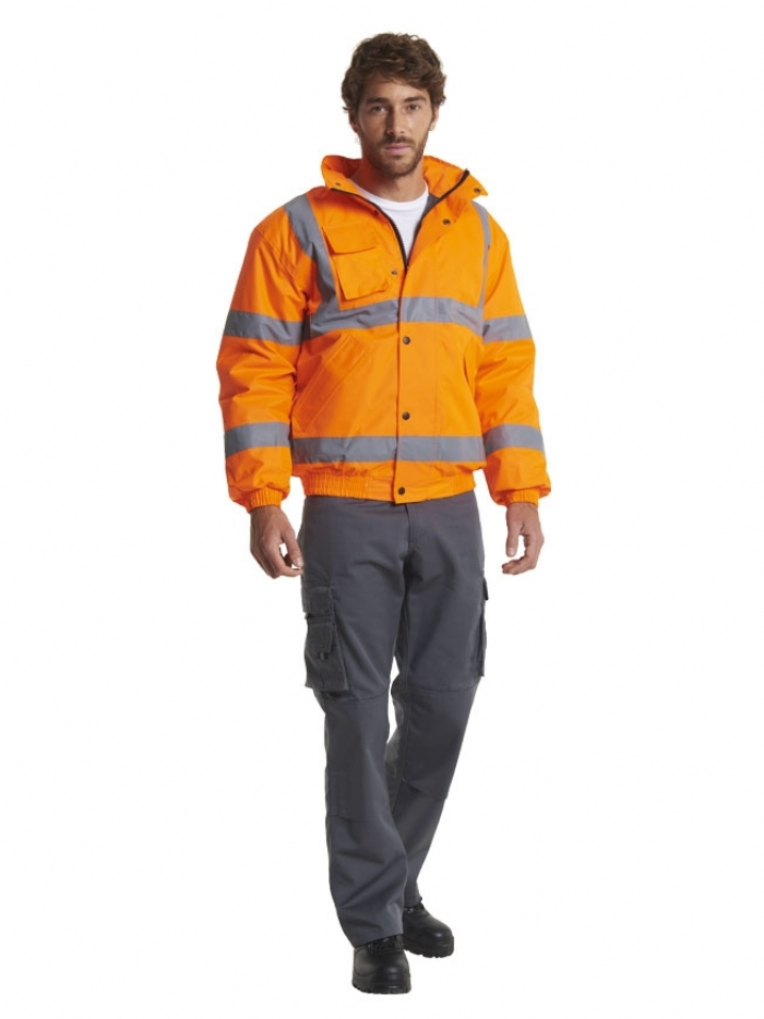 Uneek High Visibility Bomber Jacket UC804