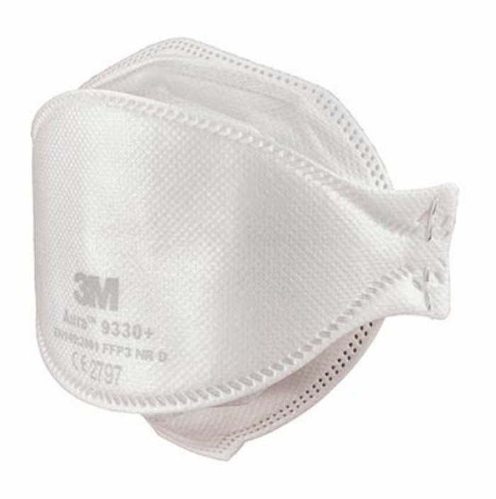 3M Aura 9330+ FFP3 Unvalved Respirator Face Mask