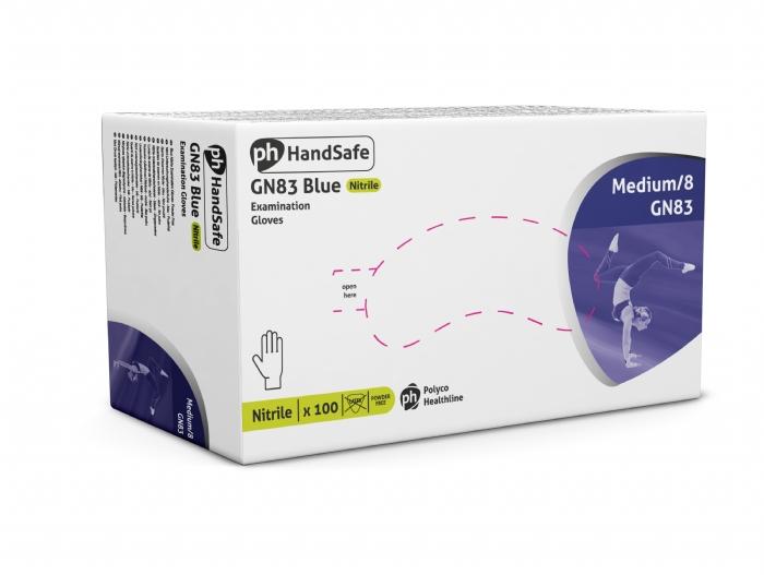 GN83 Blue Powder Free - Ultimate Nitrile Gloves