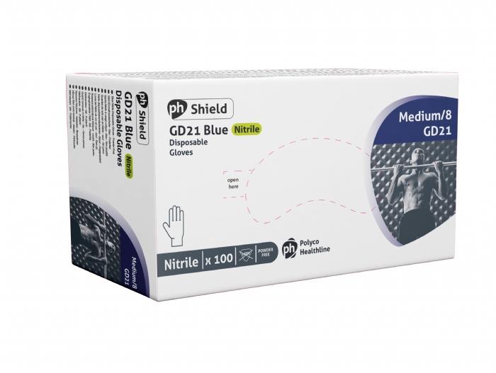 GD21 Blue Powder Free - Plus Nitrile Gloves