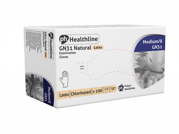 GN31 Powder Free Chlorinated Latex Gloves