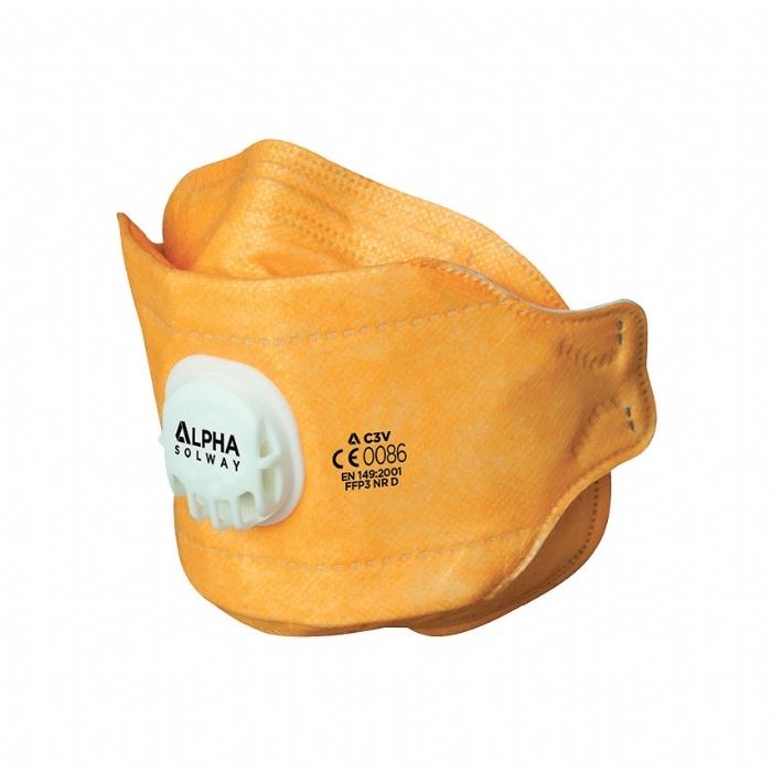 Alpha Solway C3V C Series Fold Flat Respirator Valved FFP3 Mask