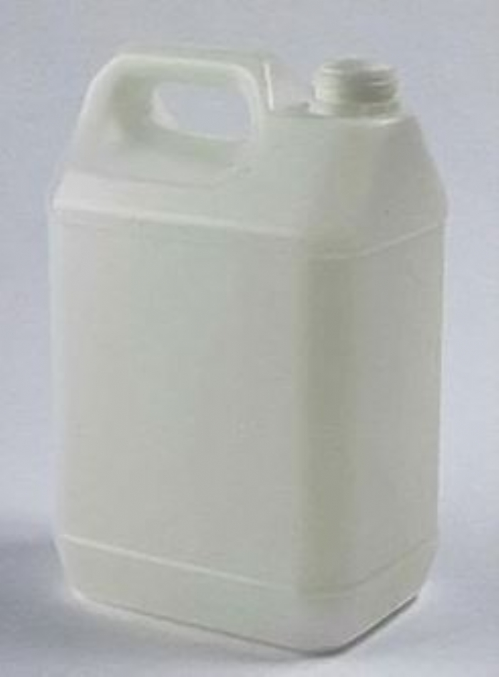 5 Litre Plastic Natural Jerrican UN Fluorinated with 42mm Tamper Evident Neck