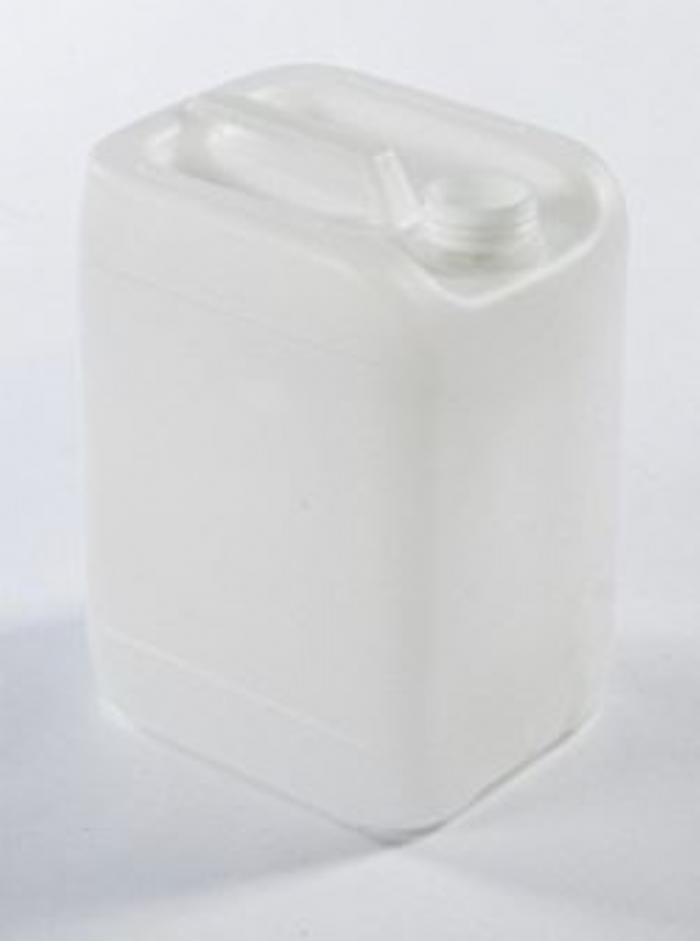 10 Litre Plastic Natural Stackable Jerrican UN Fluorinated with 51mm Tamper Evident Neck