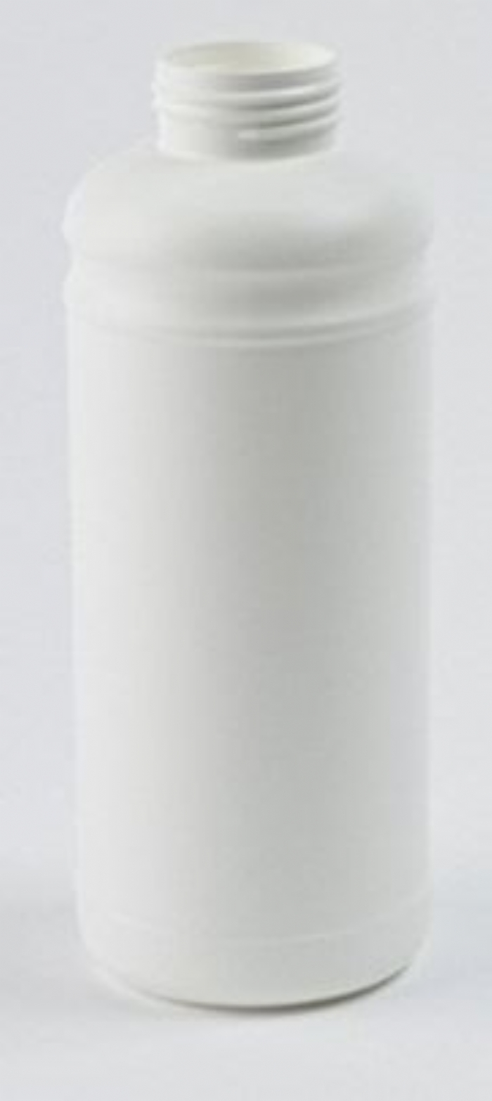 1 Litre Plastic White Cylindrical Bottle UN Fluorinated with 45mm Neck
