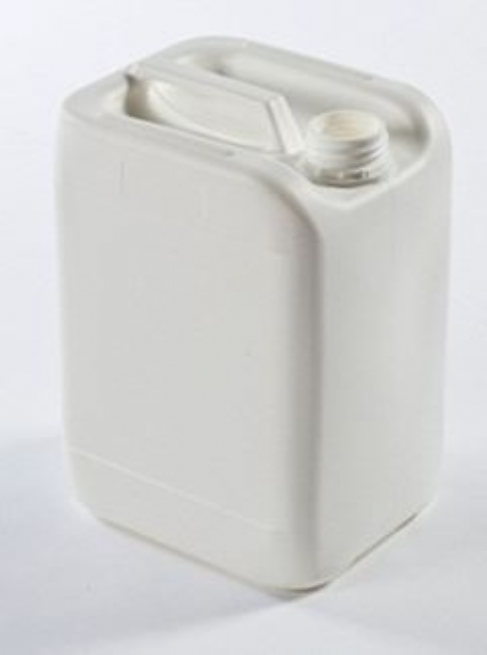 10 Litre Plastic White Stackable Jerrican UN Fluorinated with 51mm Tamper Evident Neck